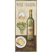 Fleur De Lis Living 'Wine And Cheese 2' Graphic Art Print; Gold Metal Framed Paper