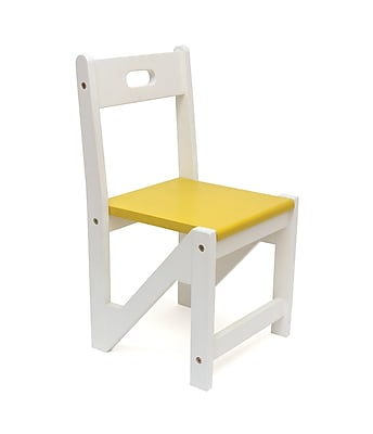 Harriet Bee Clarkedale Kids Stacking Zig Zag Chair (Set of 2); Yellow