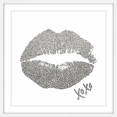 Ivy Bronx 'XOXO II' Framed Drawing Print; 32'' H x 32'' W
