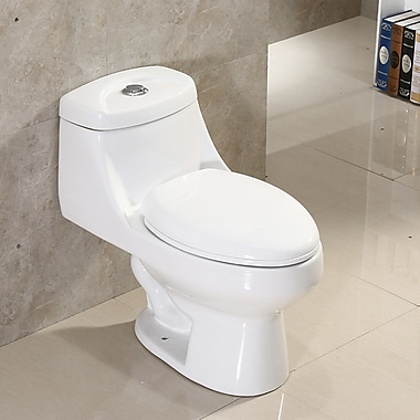 WoodBridge Dual Flush Elongated One-Piece Toilet