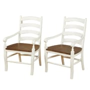 Ophelia & Co. Divij Solid Wood Arm Chair (Set of 2)