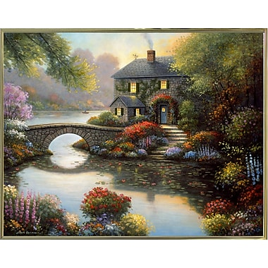 Alcott Hill 'Complete Serenity' Graphic Art Print; Gold Metal Framed