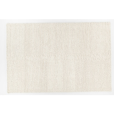Foundry Select Ambrose Hand-Woven White Area Rug; 5' x 7'6''