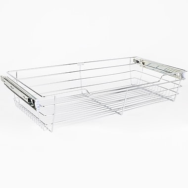 Hardware Resources Closet Pullout 29''W x 6''H x 14''D Drawer; Polished Chrome