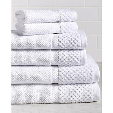 Gracie Oaks 6 Piece Towel Set; White