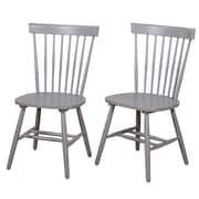 Gracie Oaks Tesfai Solid Wood Dining Chair (Set of 2)