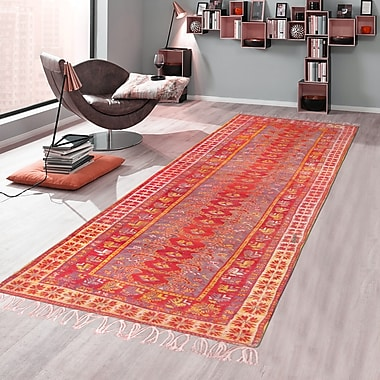 Pasargad Antique Oushak Hand-Knotted Wool Red Area Rug