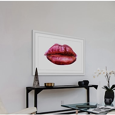 Ivy Bronx 'Kissable' Framed Watercolor Painting Print; 12'' H x 18'' W