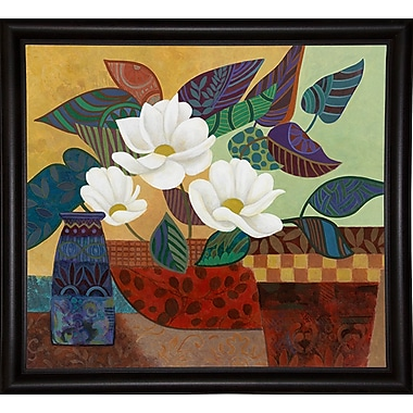 Bloomsbury Market 'Stained Glass Floral' Graphic Art Print; Bistro Expresso Framed Paper