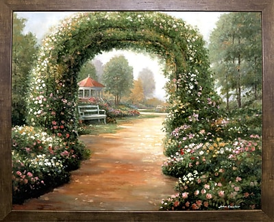 Charlton Home 'Archway' Graphic Art Print; Cafe Mocha Framed Paper