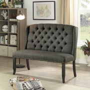 Darby Home Co Tennessee Contemporary Bench; Gray