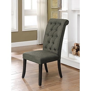 Darby Home Co Tomasello Transitional Upholstered Dining Chair (Set of 2); Gray