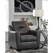 Latitude Run Cabrini Club Chair; Dark Gray