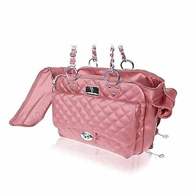 VanderpumpPets Classic Quilted Luxury Pet Carrier; Pink