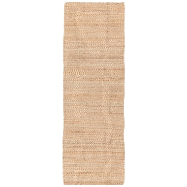 August Grove Bardette Brown Solid Area Rug; Runner 2'6'' x 7'6''