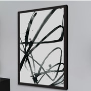 Orren Ellis 'Black Strokes' Framed Watercolor Painting Print On Paper; 45'' H x 30'' W
