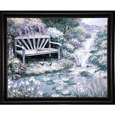 Charlton Home 'Park Bench' Graphic Art Print; Bistro Expresso Framed Paper