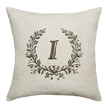Ophelia & Co. Bauke Initials Throw Pillow; I