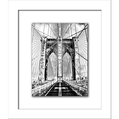 Novogratz 'Brooklyn Bridge' Framed Photographic Print in Black and White; 26'' H x 22'' W