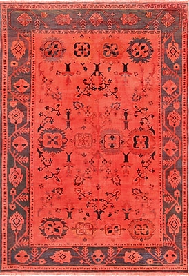 Pasargad Overdye Hand-Knotted Wool Red Area Rug