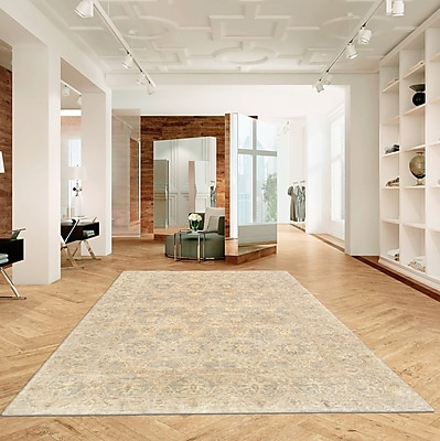 Pasargad Ferehan Hand-Knotted Wool Ivory Area Rug