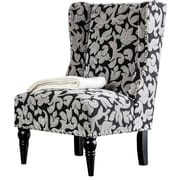 Alcott Hill Anheuser Contemporary Wingback Chair; Damask
