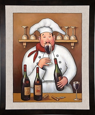 Winston Porter 'Chef 1' Graphic Art Print; Cafe Espresso Wood Framed Paper