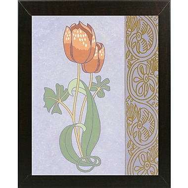Winston Porter 'Rose Tulip w/ Right Border' Graphic Art Print