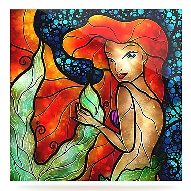 KESS InHouse 'Ariel' Graphic Art Print on Metal; 8'' H x 8'' W x 1'' D