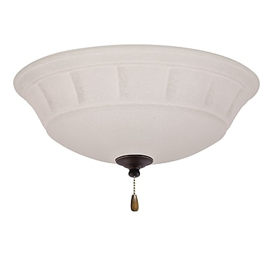 Darby Home Co 3-Light Bowl Fan Light Kit; Golden Espresso