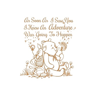 Decal House Quote Winnie the Pooh Wall Decal; Light Brown