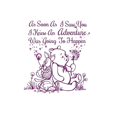 Decal House Quote Winnie the Pooh Wall Decal; Violet
