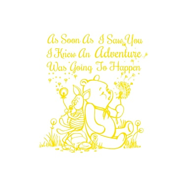 Decal House Quote Winnie the Pooh Wall Decal; Yellow