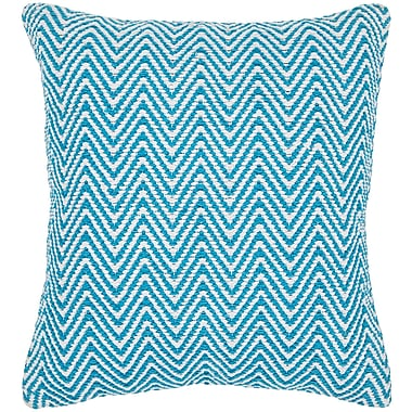 Longshore Tides Zeibak Chevron Contemporary Cotton Throw Pillow; 18'' H x 18'' W