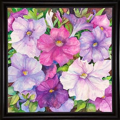 Winston Porter 'Petunias' Print; Bistro Expresso Framed Paper
