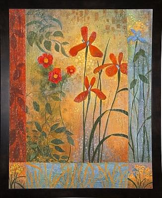 Winston Porter 'Floral Symphony 2' Graphic Art Print; Black Wood Medium Framed Paper