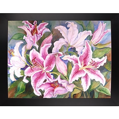 Winston Porter 'Lilies Of The Field' Print; Black Wood Large Framed Paper