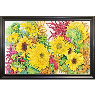 August Grove 'Sunflowers And Amaranth' Print; Rolled Canvas