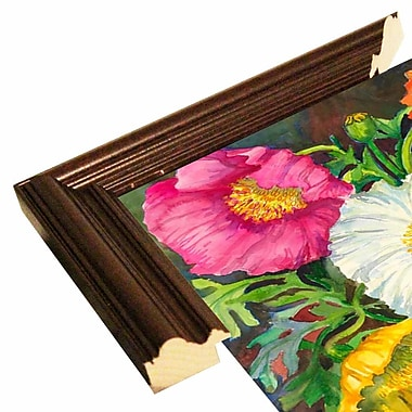 August Grove 'Iceland Poppies' Print; Cherry Wood Grande Framed Paper