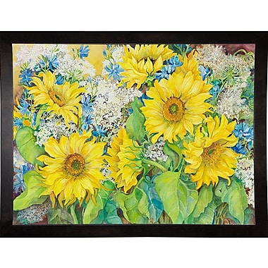 August Grove 'Here Comes The Sun' Print; Cafe Espresso Wood Framed Paper