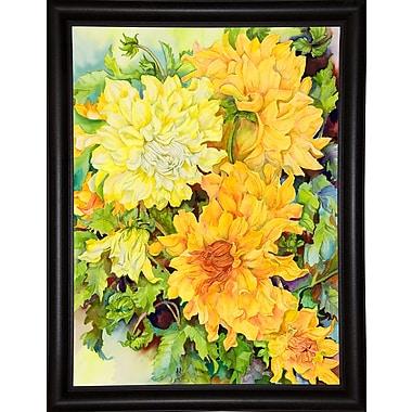 August Grove 'Golden Glow' Print; Bistro Expresso Framed Paper