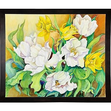 August Grove 'Spring Breeze' Print; Cafe Espresso Wood Framed Paper