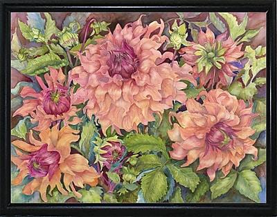 August Grove 'Sahara Glow Dahlia' Print; Flat Back Metal Framed