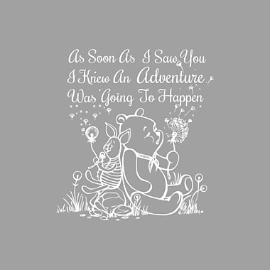 Decal House Quote Winnie the Pooh Wall Decal; White