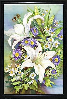 August Grove 'A Spring Bouquet' Print; Flat Back Metal Framed