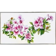 Charlton Home 'Pink Azaleas' Print; Silver Metal Framed Paper
