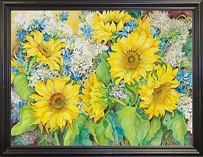 August Grove 'Here Comes The Sun' Print; Black Wood Grande Framed Paper