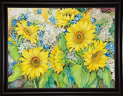 August Grove 'Here Comes The Sun' Print; Bistro Expresso Framed Paper
