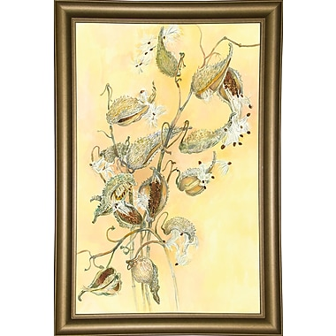 Alcott Hill 'Milkweed' Graphic Art Print; Bistro Gold Framed Paper