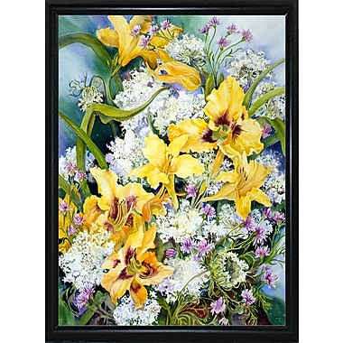 Alcott Hill 'Wild Flowers And Daylilies' Print; Flat Back Metal Framed